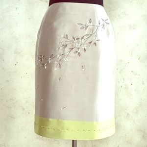 Pencil Skirt w/ Beautiful Beading & Embroidery